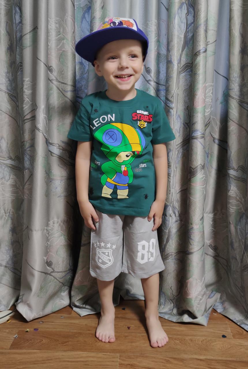 Детские шорты для мальчика серые 4-5 лет