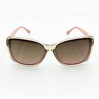 Стильные очки женские cолнцезащитные коричневые BVLGARI