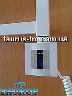Квадратный белый ТЭН: экран +управление +таймер (под настенный пульт ДУ). Польша