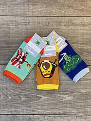 Женские носки стрейчевые Montebello разный принт на правой и левой ноге 35-40 12 шт в уп микс 3 цветов