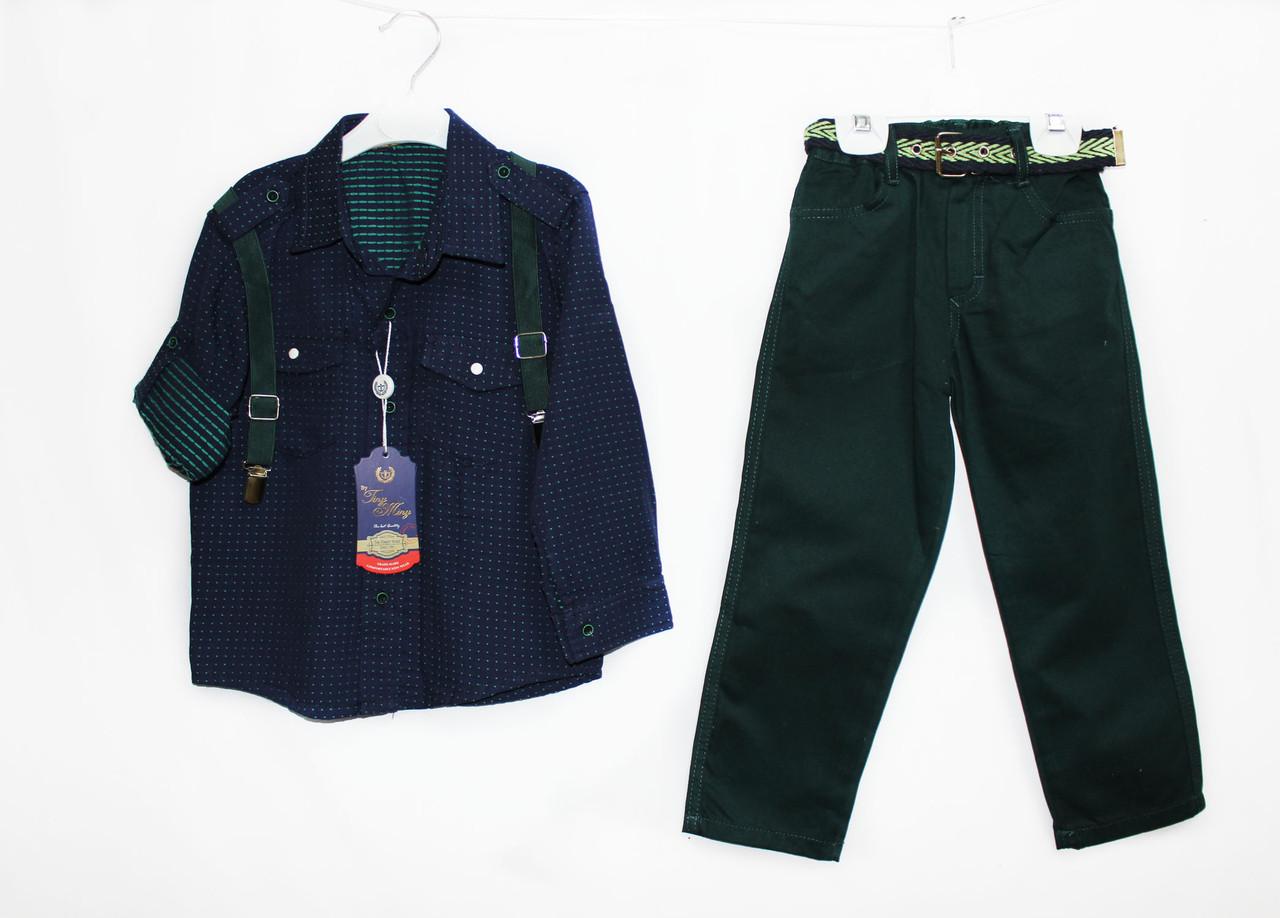 Костюм, рубашка + джинсы для мальчика. flamini 1536