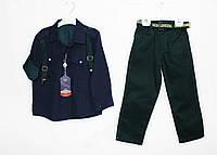 Костюм, рубашка + джинсы для мальчика. flamini 1536, фото 1