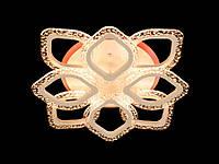 Потолочная светодиодная люстра в спальню с диммером цвет белый 80W Diasha&QX2522/4+4S WH LED 3color dimmer