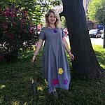 Платье женское Бохо хлопок деним с цветами Пл 187-2, фото 7