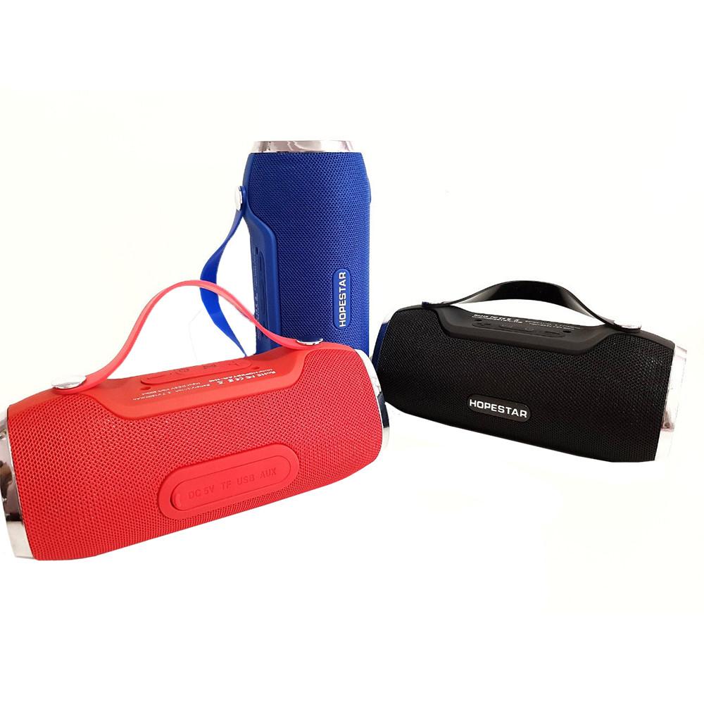 Портативная Bluetooth колонка HOPESTAR H40 БЕЗ ВЫБОРА ЦВЕТА + ПОДАРОК: Настенный Фонарик с регулятором