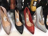 Модні золоті туфлі човники,класичні в наявності, фото 5