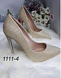 Модні золоті туфлі човники,класичні в наявності, фото 6