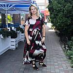Платье женское  летнее штапель Бохо  батал черно- бордовое  Пл 187 штапель, фото 2