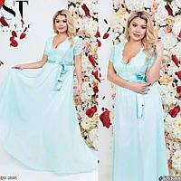Элегантное платье в пол гипюр+шифон  Размер: 48-50, 50-52 Арт: 440