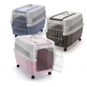 Imac Kim 60 Переноска для собак и кошек на колёсах 60*40*45см Синяя
