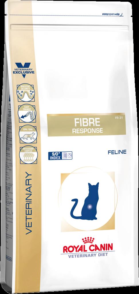 Royal Canin Fibre Response Feeline 0,4кг — Диета для кошек при нарушениях пищеварения