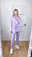 Женский костюм стильный брючный в расцветках  (Норма)