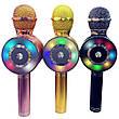 Беспроводной караоке-микрофон bluetooth WSTER WS-669 БЕЗ ВЫБОРА ЦВЕТА + ПОДАРОК: Настенный Фонарик с, фото 3