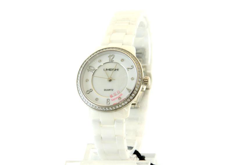 Женские часы Skmei Limeishi Керамика + ПОДАРОК: Настенный Фонарик с регулятором BL-8772A
