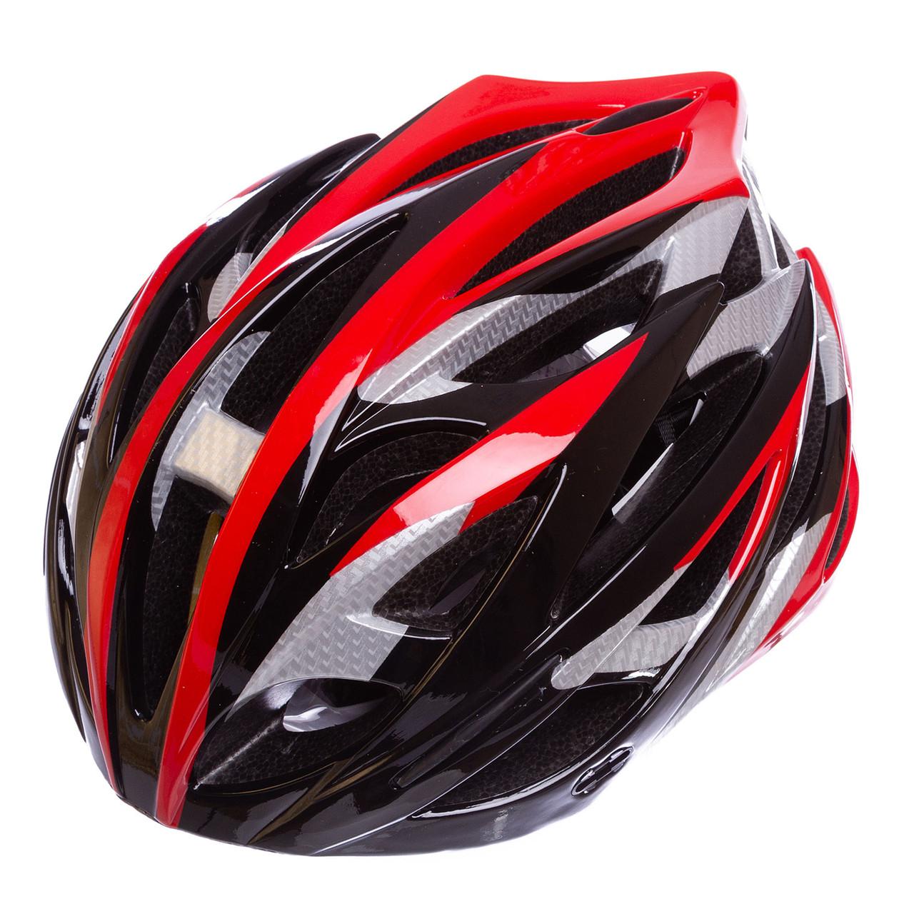 Велошлем кросс-кантри с механизмом регулировки Zelart, EPS, пластик, PVC, р-р M-55-58, черный (HY032)