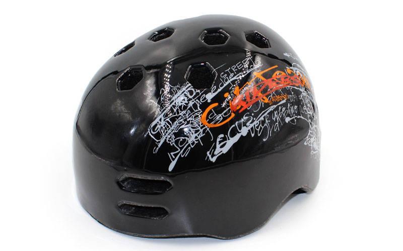 Шлем для экстремального спорта Zelart, ABS, р-р M-L-55-61, черный (MTV18)
