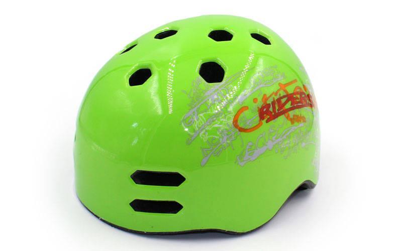 Шлем для экстремального спорта Zelart, ABS, р-р M-L 55-61, зеленый (MTV18)