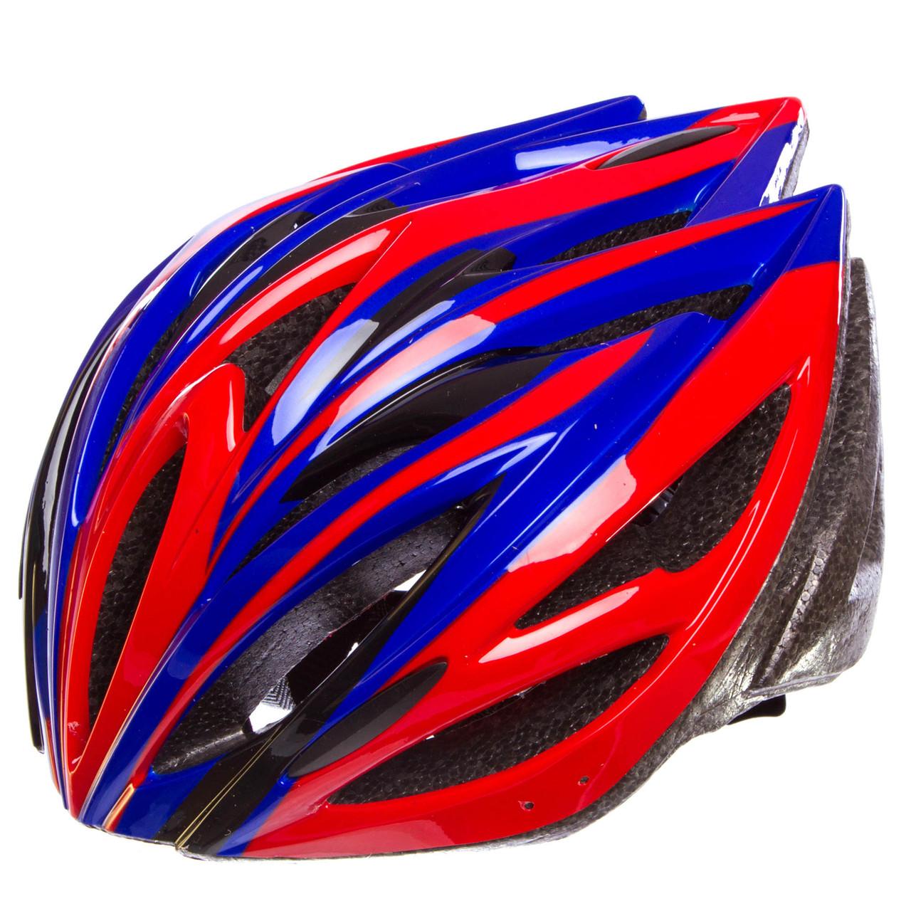 Шлем защитный с механизмом регулировки Zelart, EPS, PE, р-р L-54-56, 12 отверстий, красный (SK-5612)