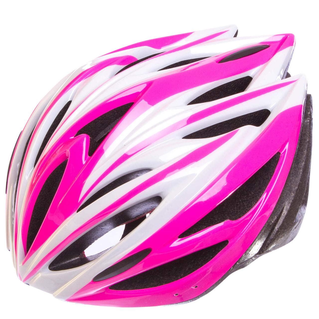 Шлем защитный с механизмом регулировки Zelart, EPS, PE, р-р L-54-56, 12 отверстий, розовый (SK-5612)