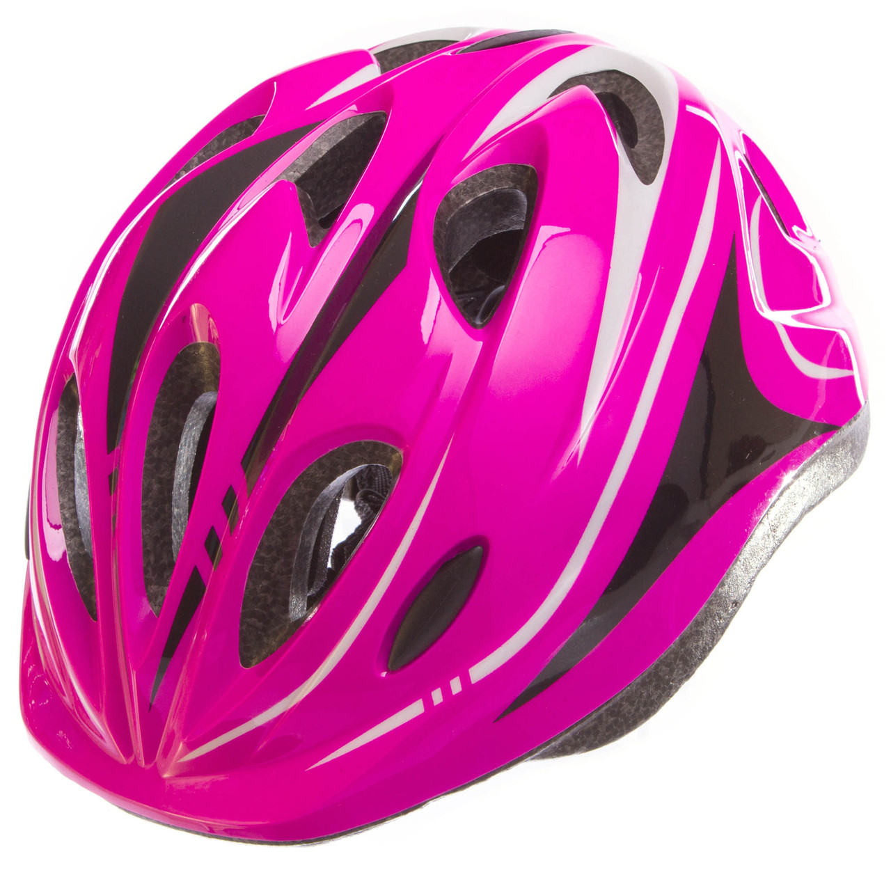 Шлем защитный с механизмом регулировки Zelart, EPS, PE, р-р L-54-56, 12 отверстий, розовый (SK-5611)