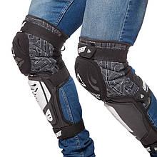 Наколенники для мотокросса (колено, голень) 2шт LEATT HYBRID 3DF, нейлон, PL, EVA, черно-белый (MS-0293)