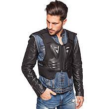 Жилет защитный для мотоциклиста, PL, пластик, р-р M-XL,черный FOX (MS-5525)