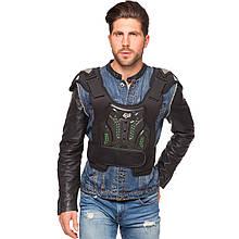 Жилет защитный для мотоциклиста FOX, PU, PL, пластик, р-р M-XL, черный (MS-0287)