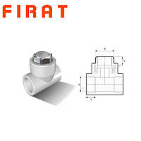 """Тройник полипропиленовый с внутренней резьбой под ключ (ВР) 32х1""""х32 Firat"""