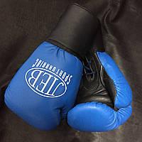 Бокс. перчатки ЛЕВ на шнурке кож. 12 ун.