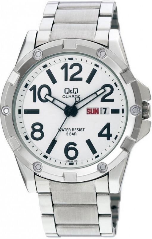 Мужские часы Q&Q A150J204Y + ПОДАРОК: Настенный Фонарик с регулятором BL-8772A