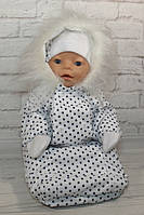 Одежда для куклы Baby Born - Конверт белый зимний