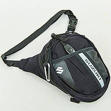 Мотосумка набедренная SUZUKI, PL, р-р 19х24см, черный (MS-0307-S)