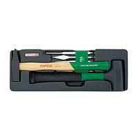 Набор зубил и выколоток, молоток безинерционный, инструментов для сто автомеханика автослесаря Toptul GCAT0701