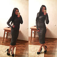21b4018ff18 Платье миди закрвтое из трикотажа резинки 3 цвета