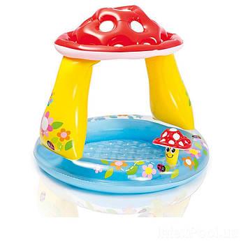 Надувной бассейн с навесом Intex Грибочек с надувным дном 45 л Разноцветный (RL0164)