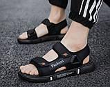 Мужские сандалии Fashion черные, фото 2