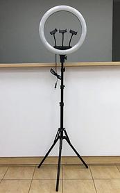 Профессиональная Кольцевая лампа 45см M-45 RL-18 штатив+пульт+3 держателя Led кольцо