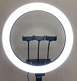 Професійна Кільцева лампа 45см M-45 RL-18 штатив+пульт+3 держателя Led кільце, фото 3