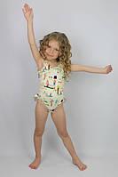 Купальник сдельный желтый - пляжная одежда для детей, туники, панамы, рубашки