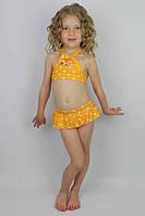 """Купальник для девочки раздельный """"Звездочки"""" желтый - пляжная одежда для детей, туники, панамы, рубашки"""