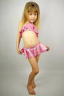 """Купальник раздельный девочке """"Розовый гламур"""" с юбочкой - пляжная одежда для детей, туники, панамы, рубашки"""