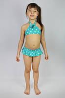 """Купальник раздельный для девочки """"Звездочки"""" бирюзовый - пляжная одежда для детей, туники, панамы, рубашки"""