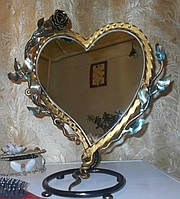 Коване дзеркало серце