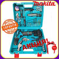 Шуруповерт аккумуляторный Makita DF330DWE (12V, 2Ah) с набором инструментов. Макита шуруповерт 12в с набором