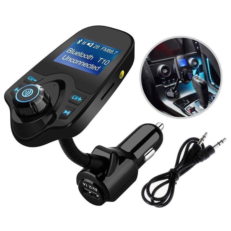 Трансмитер FM MOD. T10 + BT, Модулятор, Трансмитер от прикуривателя, FM Модулятор, Автомобильный трансмитер