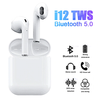 Беспроводные  Bluetooth Наушники i12s TWS сенсорные
