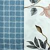 Цветное постельное белье в клетку с цветочными элементами, синее, сатин Двуспальний 180х220см, фото 2