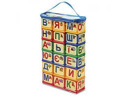 Детские кубики Юника для изучения алфавита «Азбука» укр., 18 шт.