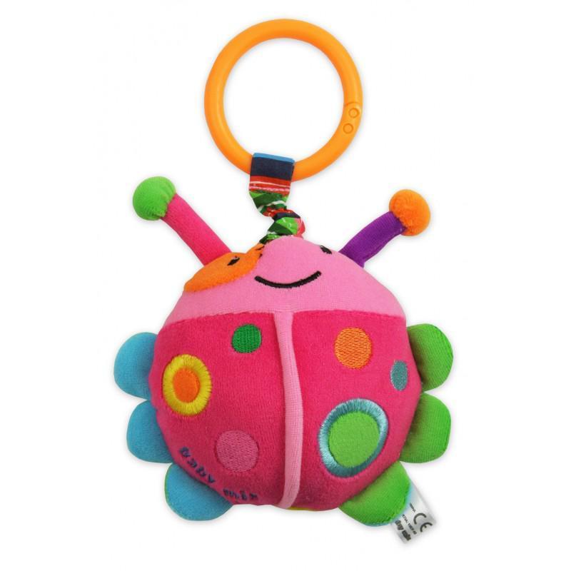 Детская плюшевая подвеска с вибро на коляску Baby Mix TE-9806 Пчелка