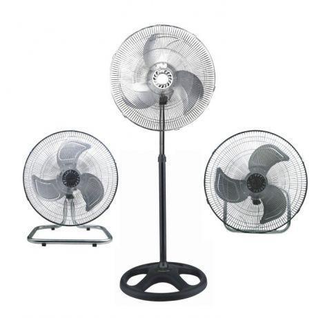 Вентилятор металлический,мощный, 3 в 1 (напольный, настольный, настенный) FS 4521 CHENGLI CROWN